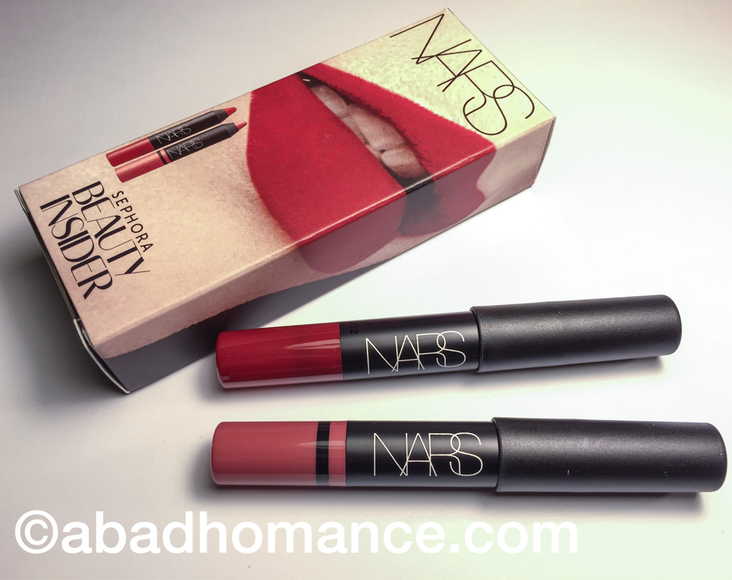 Sephora Beauty Insider Birthday Gift NARS Velvet Matte Lip Pencil In Cruella And Satin Rkugen
